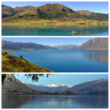 New Zealand lakes panoramas Royalty Free Stock Photos