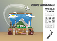 New zealand Landmark Global Travel And Journey Infographic lugga. Ge.3D Design Vector Template.vector/illustration. can be used for your business, advertisement Stock Photos