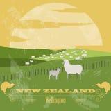 New Zealand landmarks. Retro styled image Royalty Free Stock Photography