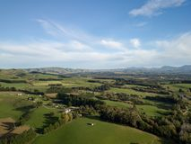 New Zealand Landscape, Aerial Point Of View Farmlands