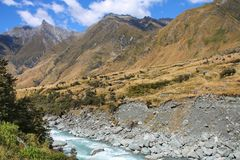 New Zealand landscape. New Zealand - landscape in Mount Aspiring National Park Stock Photo