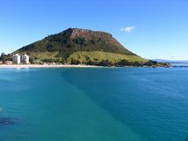 New Zealand Landscape (Mount Maunganui) Stock Photo