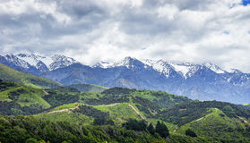 New Zealand landscape. New Zealand, landscape on the road to Kaikoura, the south island Royalty Free Stock Photo