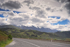 New Zealand landscape. New Zealand, landscape on the road to Kaikoura, the south island Stock Photography