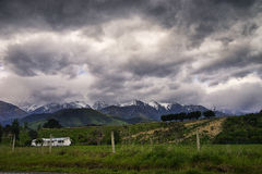 New Zealand landscape. New Zealand, landscape on the road to Kaikoura, the south island Royalty Free Stock Photos