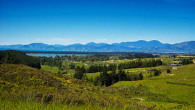 New Zealand Landscape. New Zealand, landscape on the road to Picton, the south island Royalty Free Stock Photo