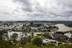 New Zealand landscape, Whanganui aerial view Stock Image