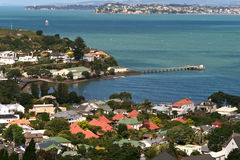 New Zealand Landscapes. Devonport and the Waitemata Harbour from atop Mount Victoria. Auckland.New Zealand royalty free stock image