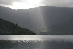 New Zealand Light Rays Royalty Free Stock Image