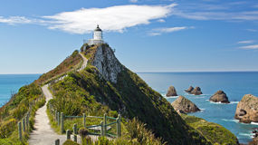 New Zealand, Lighthouse, Nugget Point Royalty Free Stock Photo