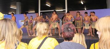 New Zealand Maori perform Haka War dance Royalty Free Stock Photo