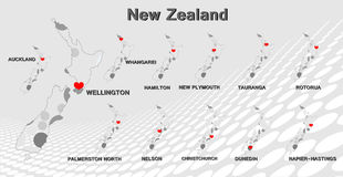 New Zealand map Royalty Free Stock Image