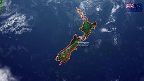 New Zealand map and border stock footage