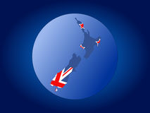 New Zealand map flag sphere Royalty Free Stock Image