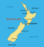 New Zealand - map Stock Images