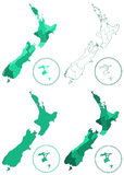 New Zealand maps Royalty Free Stock Images