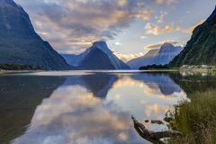 New Zealand Milford Sound Evening royalty free stock photos