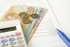 New Zealand Money and Paying Bills Stock Photos