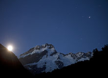 New Zealand - Mount Cook in night Royalty Free Stock Image