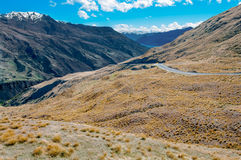 New Zealand Mountain Road Royalty Free Stock Image