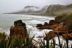 New Zealand Mountains and sea. New Zealand`s Beautiful Mountains and sea royalty free stock photography