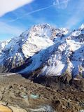 New Zealand Mt cook -Glaciers... helicopter view of the magnificent glaciers mountain Royalty Free Stock Photos