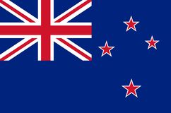 New Zealand national flag, official flag of New Zealand accurate colors. True color Royalty Free Stock Photography