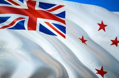 New Zealand Naval ensign flag. 3D Waving flag design. The national symbol of New Zealand Naval ensign, 3D rendering. New Zealand. Naval ensign 3D Waving sign royalty free stock image