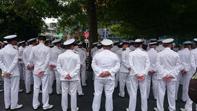 New Zealand Navy Officers Royalty Free Stock Images