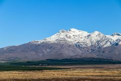New Zealand North Island mountains and lakes. In February 2019 royalty free stock images