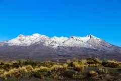 New Zealand North Island mountains and lakes. In February 2019 stock photos