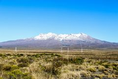 New Zealand North Island mountains and lakes. In February 2019 stock photography