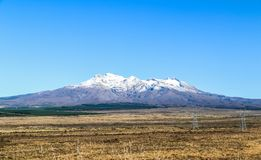 New Zealand North Island mountains and lakes. In February 2019 royalty free stock image
