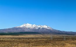 New Zealand North Island mountains and lakes. In February 2019 royalty free stock photography