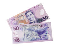 New Zealand $50 Notes Royalty Free Stock Photography
