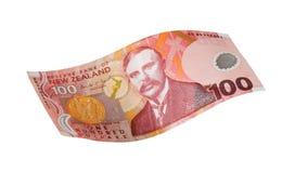 New zealand one hundred dollar. One hundred new zealand doller fly Stock Image