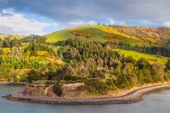 New Zealand Otago Region coastal landscape Royalty Free Stock Photo