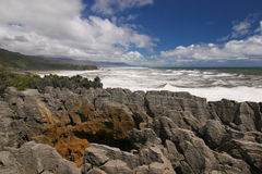 New Zealand Pancake rocks Royalty Free Stock Photography