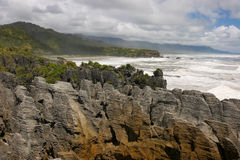 New Zealand Pancake rocks Royalty Free Stock Image
