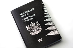New Zealand passport Stock Images