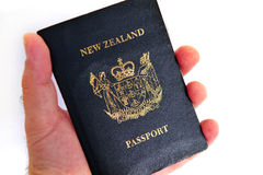 New Zealand passport Stock Photography