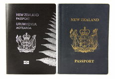 New Zealand Passport - Old and New Royalty Free Stock Photography
