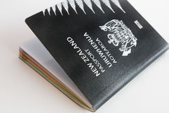 New Zealand passport  on white background Stock Photography