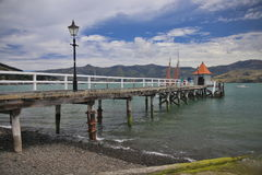 New Zealand pier. Pier in New Zealand on a sunny day Royalty Free Stock Images