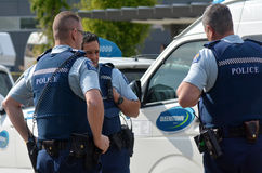 New Zealand Police Force Stock Photo
