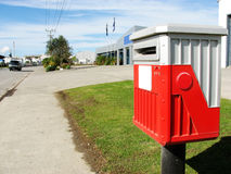 New Zealand post box on the street Stock Photos
