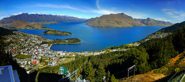 New Zealand, Queenstown, Panorama Royalty Free Stock Photography