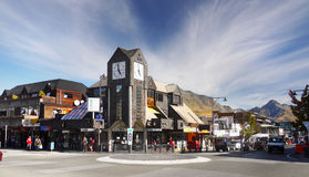 New Zealand, Queenstown. Queenstown town - street scene and business district Royalty Free Stock Photography
