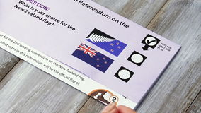 New Zealand referendum voting paper. stock video footage