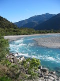 New Zealand River. Glacial river in New Zealand, South Island Royalty Free Stock Photos